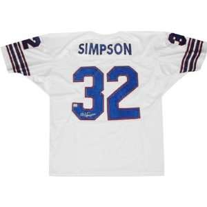 O.J. Simpson Autographed White Custom Jersey Sports