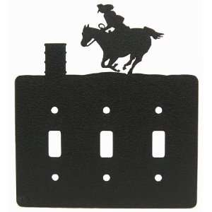 Barrel Race Triple Light Switch Plate Cover
