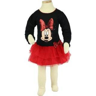 Disney Minnie Mouse Toddler Girls Sequin & Tulle Dress Sizes 2T 4T