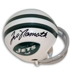 Joe Namath Autographed/Hand Signed New York Jets Throwback Mini Helmet