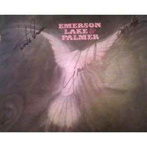 Autographed Emerson Lake & Palmer Self Titled Record AlbumCover Sleeve