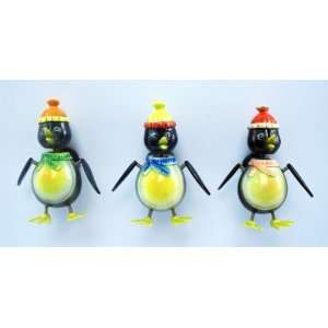 Winter Penguin   Refrigerator Bobble Magnet (Set of 3)