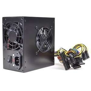 PoWork 650W 20+4 pin Dual Fan ATX Power Supply w/SATA
