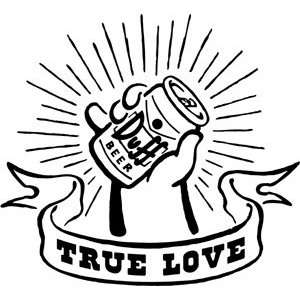Simpsons Duff True Love Rub On Sticker Decal S SIM 0125 R