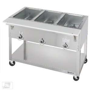 EP303 3 Well Portable Electric Steam Table   Aerohot