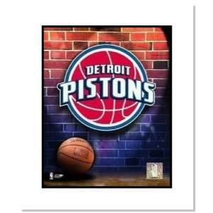 Detroit Pistons NBA Team Logo and Basketball Double
