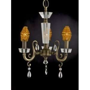 Dale Tiffany Prato Three Light Chandelier in Antique Brass