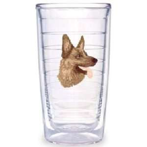 Tervis Tumblers German Shepard 16oz Set 4 Decorated Colored Cups NEW