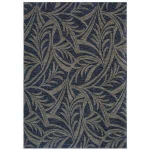 Tommy Bahama Rugs Home Nylon Abstracted Leaf Navy