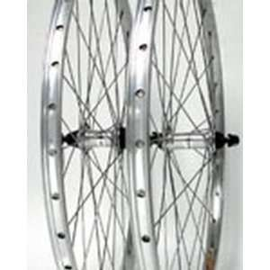 26x1.50, ZAC 19, Rear, Q/R, 8 9 sp, Silver Alloy Wheel