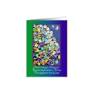 Daughter in Law Christmas Angel Remembrance Tree Card