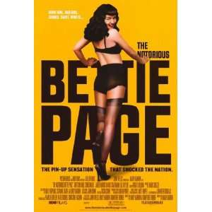 The Notorious Bettie Page   style B by Unknown 11x17