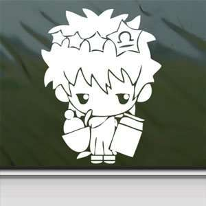 Gintama White Sticker Gintoki Car Laptop Vinyl Window