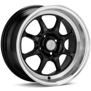 15 ENKEI J SPEED RIMS WHEELS BLACK 15x8 4x100 +25