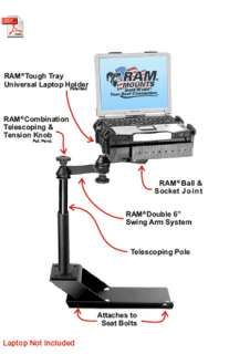 RAM VB 116 SW1 Laptop Mount Chevy Colorado, GMC Canyon