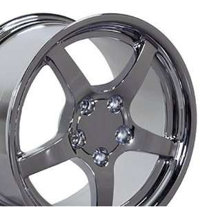 C5 Deep Dish Style Wheel Fits Corvette   Chrome 17x9.5 Automotive