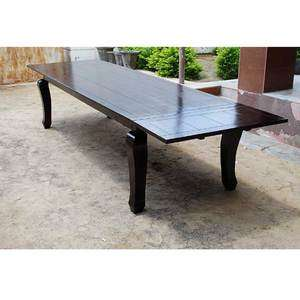 Solid Wood Mahogany Large Extension Dining Table with Cabriole Legs