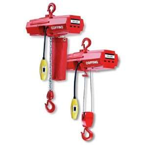 Coffing EMW500B Light Duty Electric Wire Rope Hoist 10` Lift, Capacity