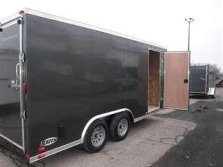 Enclosed cargo utility Trailer 8.5 x 16` With Ramp door 3/8